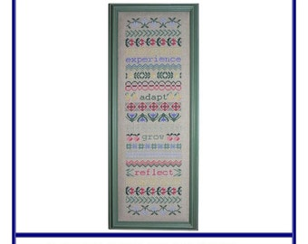 Grow & Reflect - A Band Sampler (BRD-004) Cross Stitch Design