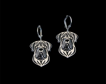 English Mastiff earrings - sterling silver