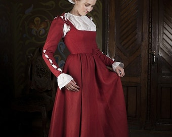 20% DISCOUNT! Kirtle Corset Dress - Central Europe Traditional Costume XVI Century