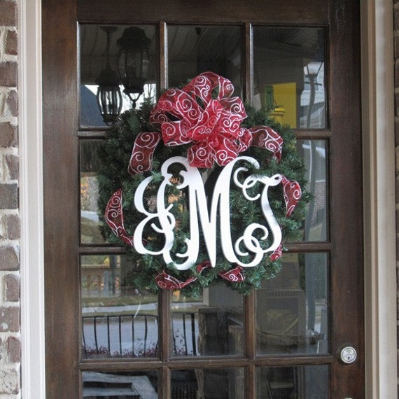 Monogram Front Door Decoration: 15 Interlocking Wooden Monogram Home Decor For Door Or