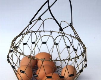 unique wire egg basket related items etsy
