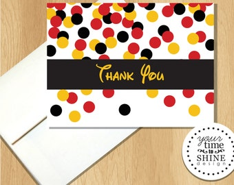 Mickey Mouse - Folded Thank You Notes