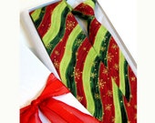 12 Matching Father/Son Christmas Neck Ties - Boy, Toddler, Child & Baby- Holiday Photo Prop- Adjustable- (Green, Red, Trees, Snowflakes)