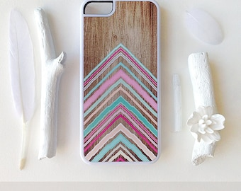 iPhone 6S Case, iPhone 5C Case Wood Print, iPhone 5s Case Chevron, iPhone 6 Case, Geometric iPhone 5C Case, Coral Chevron iPhone 5 Cover I82
