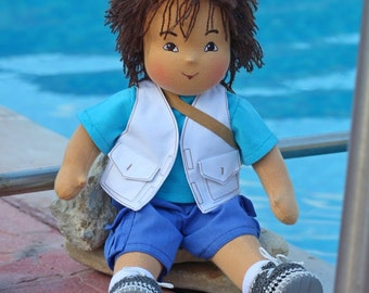 Waldorf doll boy - Diego - 13-15 inches, custom dolls for children , daughter of a gift