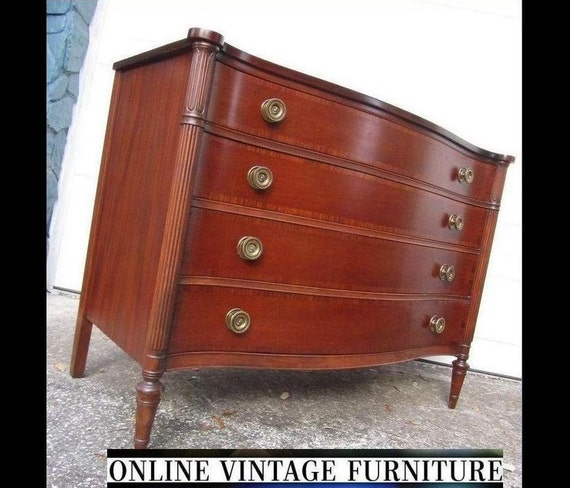 Restored 1940s Drexel Vintage Chest Drawers Sideboard Credenza