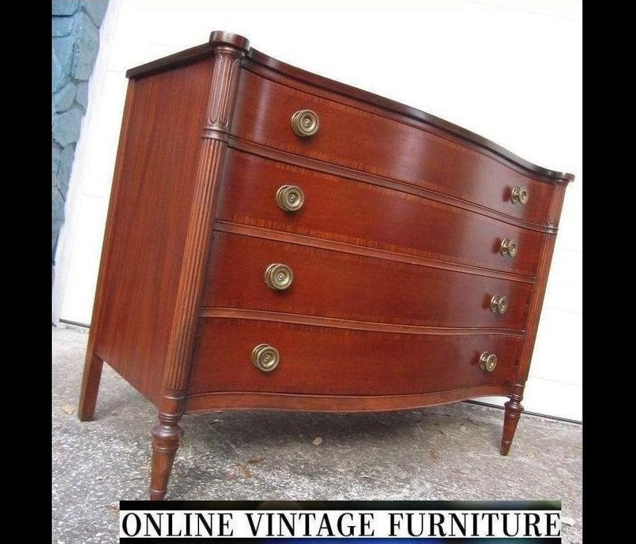 Restored 1940s Drexel Vintage Chest Drawers Sideboard Credenza