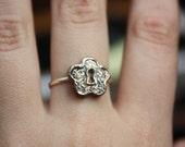 Flower Lock Copper Ring