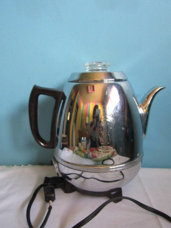 General Electric Pot Belly 9 cup PERCOLATOR Coffee pot maker