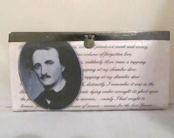 "Edgar Allan Poe ""The Raven"" Poem Women's Wallet / Clutch - Made to Order"