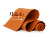 "100% Wool Felt Roll - 5"" x 36"" Wool Felt Roll - Wool Felt Color Cinnamon-7130 - European Wool  Felt - Cinnamon Color wool felt - Red Brown"