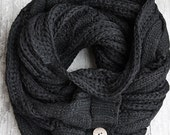 SALE! The Perfect Scarf - Black Scarf , Man Scarf, Gifts for Him, Christmas Presents For Him, For Him, Holiday, Gift Ideas