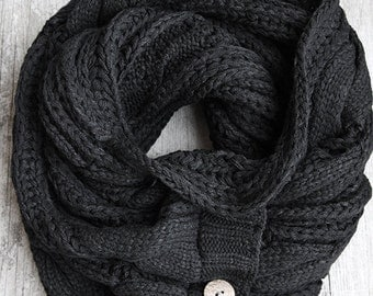 The Perfect Scarf™ - Black Scarf , Man Scarf, Fall Scarves, oversized scarf, scarf for men, Gifts For Him