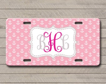 Monogrammed License Plate, Personalized Car Tags