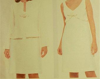 "Jacket & Dress by Anna Sui - 2000's - Vogue Pattern 2388  Uncut   Sizes 12-14-16  Bust 34-36-38"""
