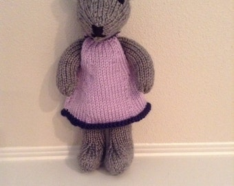 Knitted Teddy Bear - Stuffed Animal - Soft Toy - Teddy Bear - Stuffed Toy