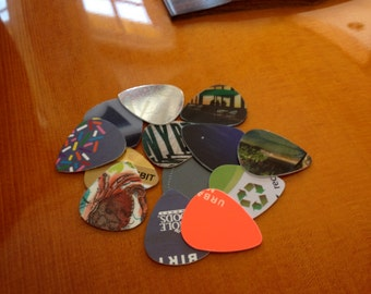Recycled Guitar Picks - Bag of Ten (10)
