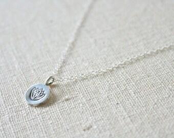 Simple Lotus Necklace //