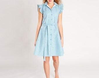 sewing pattern dress and blouse franzi: downloadable sewing pattern pdf