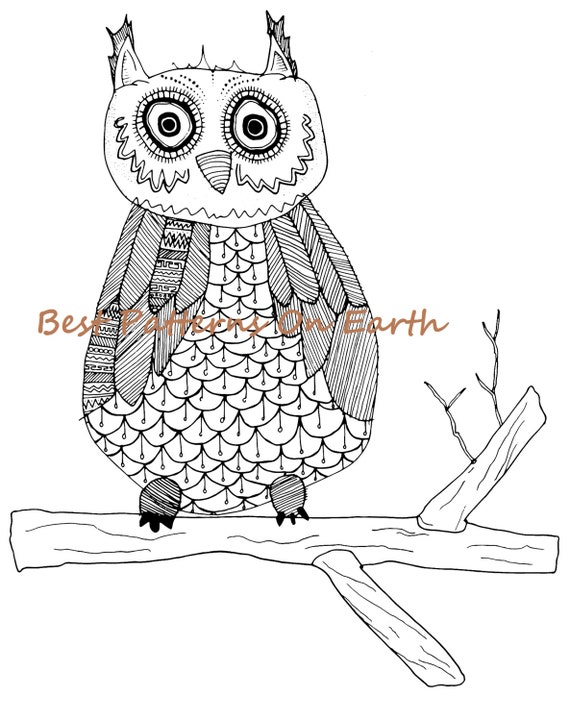 aztec owl coloring pages - photo#13
