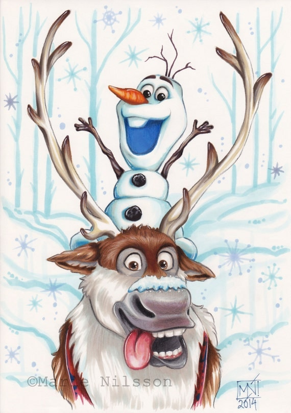 disney frozen sven drawing - photo #13