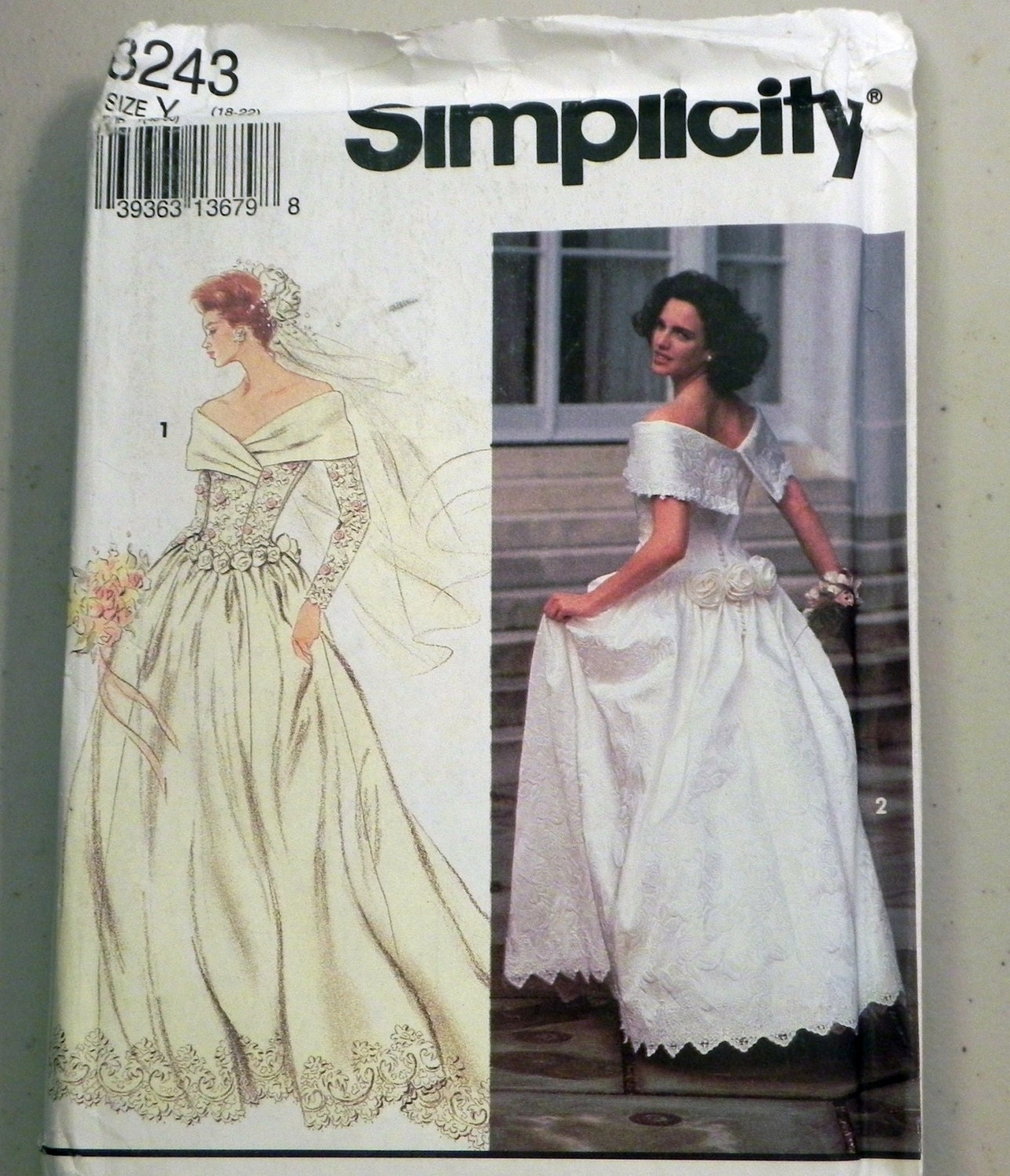 Wedding Dress Bridal Gown Off The Shoulder Sewing Pattern