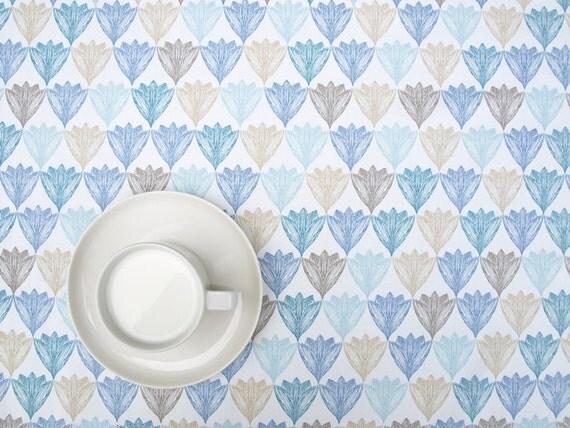 nappe pastel blanc bleu brun beige fleurs floral design. Black Bedroom Furniture Sets. Home Design Ideas