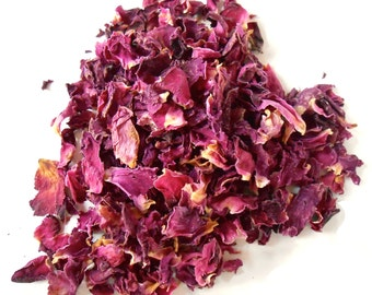 Red Rose Petals, Organic - A Symbol of Love - Romantic and Aromatic - Lovely in Potpourri, Incense, and Tea