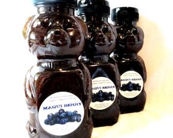 MAQUI BERRY Organic Superfruit Honey -12oz- non-GMO, Aristotelia chilensis