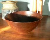 Vintage Signed Arthur Espenet Teak Bowl Mid Century Handmade