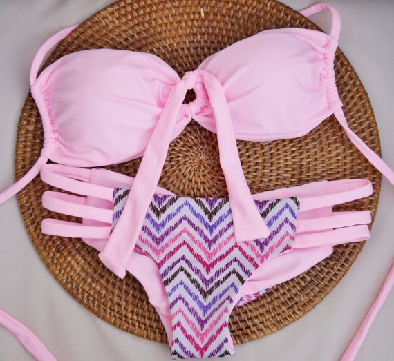 Cotton Candy Brazilian Bikini Top