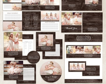 Pre-made Photography Marketing Set Templates with Logo - 008 - Prise List, Gift Certificate, Print Release and more ID197