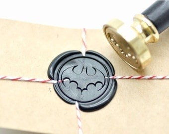 B20 Wax Seal Stamp Superhero Batman