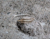 Feather Ring, Stacking Ring