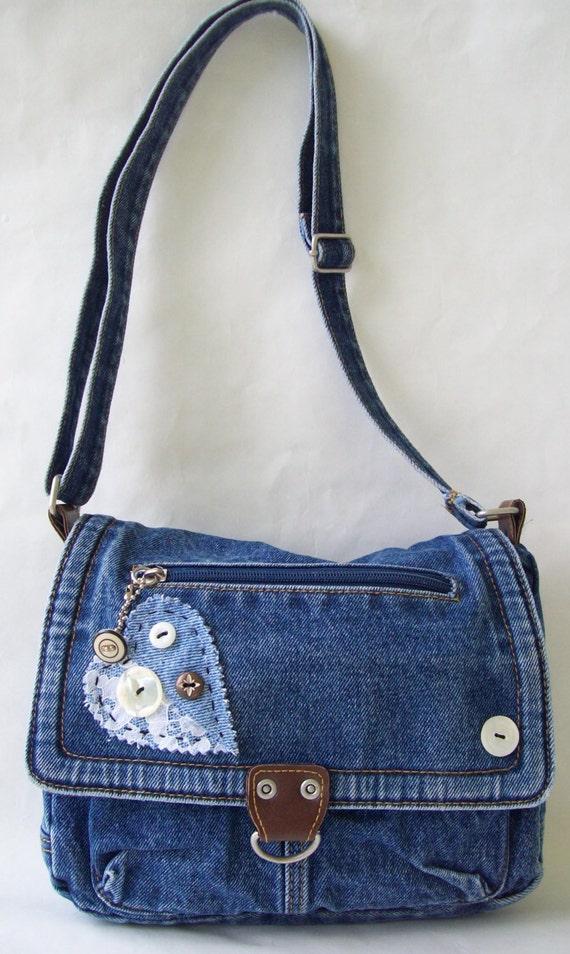 Denim Purse Denim Bag Vintage Recycled