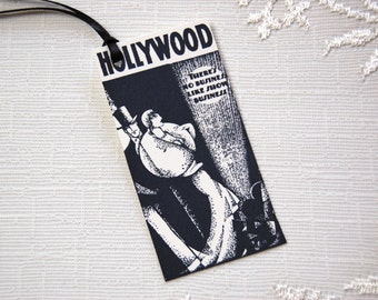 Hollywood Gift Tags -Set of 6 Black and White Tags, There's No Business Like Show Business (Old Hollywood, Oscar party decor, party favors)