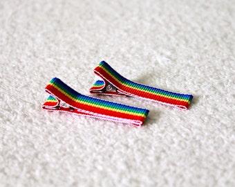 Rainbow Hair Clips (Pair of 2)