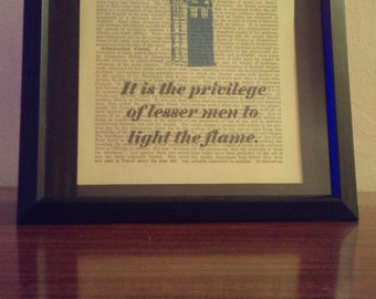 Doctor Who- Art Print (Great Men Forged in Fire) Antique Dictionary Art