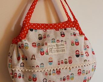 "Mini Granny bag -  ""Hello Bubshka"""