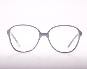 OAR vintage 60s made in italy ladies oversize eyeglasses in reflective grey, NOS 1960