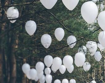 Romantic Forest - Photography Print - Korea, boho, Travel, Wanderlust, Decor, lanterns, white, green, Wall, Hanging, Bohemian, namiseom
