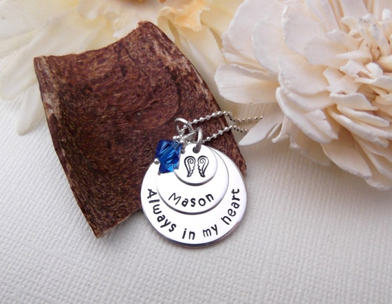 Always In My Heart- Memorial/Remembrance Necklace- Loss Jewelry- Memorial Jewelry- Child Loss- Parent Loss- Loss Jewelry