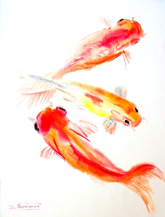 Koi fish painting watercolor images for Original koi fish