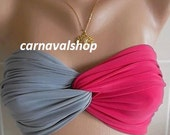 PADDED Spandex bandeau-Original Bandeau- Best bandeau- swimwear- swimsuit-hot pink