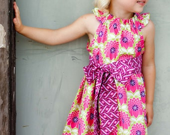 Custom Boutique Dress- Girls Boutique Dress- Nelle Dress- Size 6/7, 8, 10, and 12 yr- Brownie Goose- The DottedDuck
