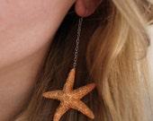 Starfish Dangle Earrings, Mermaid Costume Accessories, Nautical Beach Wedding Jewelry