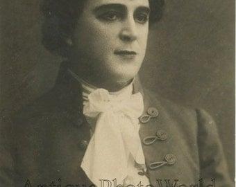 Leonid Sobinov Russian opera singer as Dubrovksy antique rppc photo