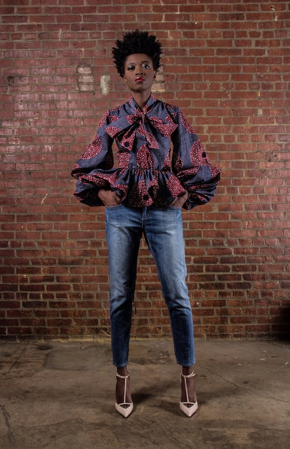 NEW The Naomi -African Print 100% Holland Wax Cotton Shirt