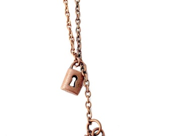 Ravenclaw Lock and Key Lariat Necklace