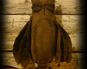 Primitive Salem Tavern Owl Halloween Decor